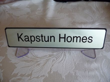 Personalised Acrylic & metal Desk Table name plate stand